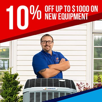 10% off up to $1000 on new equipment