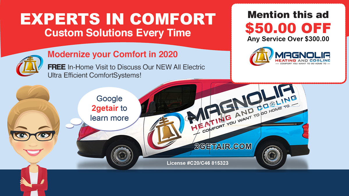 Modernize Comfort In 2020 Banner - Get $50 Off $300 Service when mentioning this ad