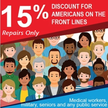 Front Lines Coupon Magnolia, 15% discount on repairs